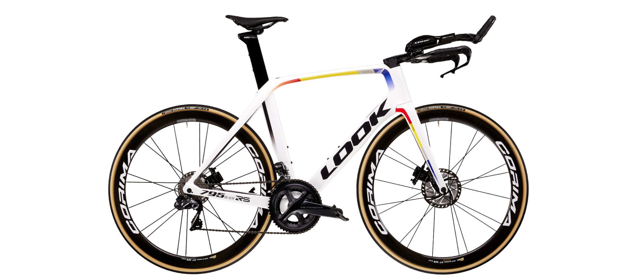 LOOK 795 BLADE RS DISC TT PROTEAM WHITE GLOSSY